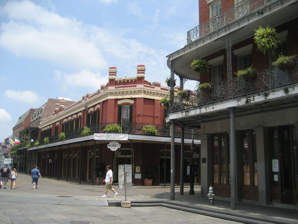 A daytime view of Muriel's Jackson Square.