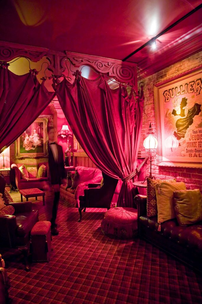 The Seance Lounge at Muriel's Jackson Square.