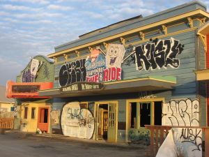 a building at the old six flags of new orleans