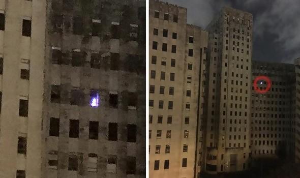 paranormal lights appear near top floor of hospital