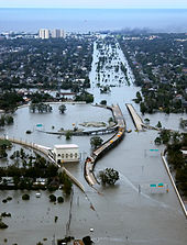 flooded interstate during the aftermath of hurricane katrina