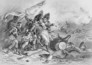The Death of Pakenham at the Battle of New Orleans by F. O. C. Darley shows the death of British Maj. Gen. Sir Edward Pakenham on January 8, 1815