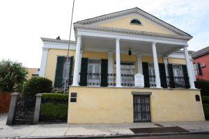 Front entrance of the Beauregard Keyes House.