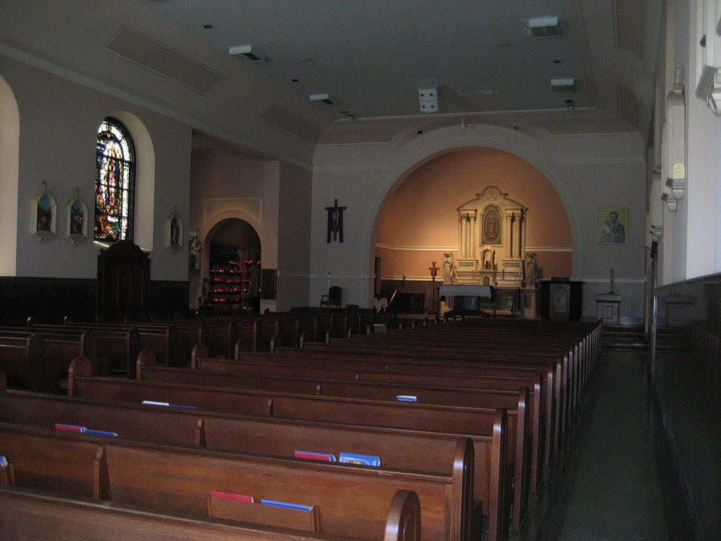 Inner chapel of Our Lady of Guadalupe
