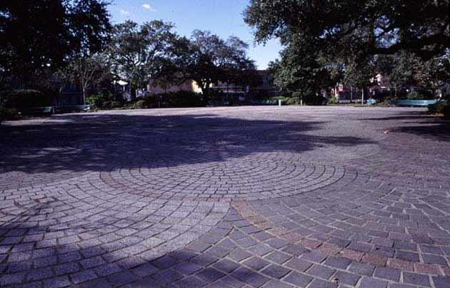 The cobblestone plaza at Congo Square